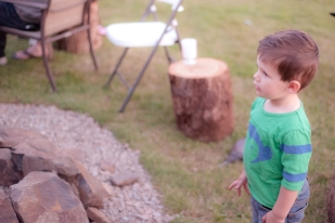 watching Cipri setting up the fire pit.